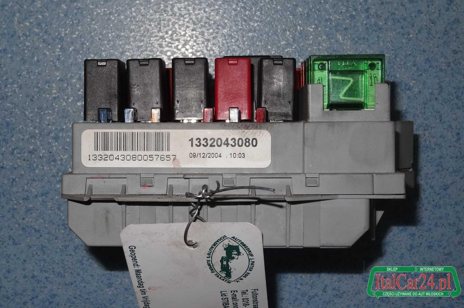 Zaktualizowano skrzynka bezpieczników Fiat Ducato 2002-2006 nr: 1332043080 YD14